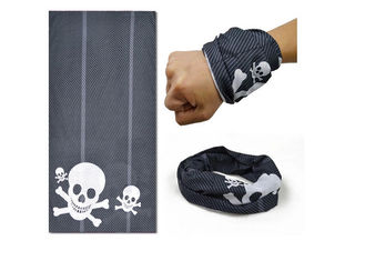 China Black White Skull  Tubular Headwear / Scarf 25 * 50cm Digital Printing supplier