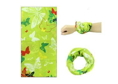 China Butterfly Logo  Head Wrapow Fiber Properties ,  Neck Scarf Sublimation Printing supplier