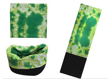 China Daily Decoration Green Bandana Polar  , Seamless Connect  Fleece Scarf supplier