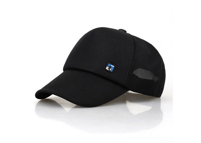 31e1abe1676 Black Mesh Trucker Hat 5 Panels