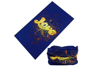 China Blue Pattern Seamless Headscarf Neck  Scarf 50*25 CM With LOVE Logo distributor