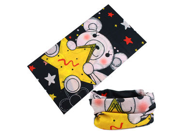 China Yellow Star Kids  Headwear / Scarf  Microfiber Polyester Breathable 25 * 50 CM distributor