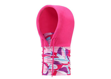 China Pink Girl Fleece Face Mask Low Fiber Properties Soft Touch Absorb Sweat Customized factory
