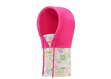 China Soft Touch Pink Hat  Fleece Face Mask Wind Resistant 25 * 50cm Hat Abt 32cm distributor