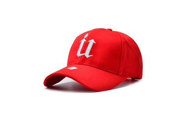 China Red Womens Baseball Hats Comfortable  , Waterproof Soft Custom Ball Caps Ourdoor distributor