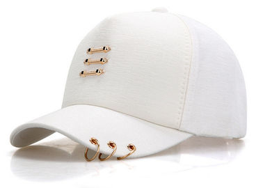 China White Color 6 Panels New Era Baseball Caps , Outdoor Sports Ladies Baseball Caps factory