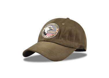China 6 Panel Army Green Fitted Baseball Caps , Light Weight Cool Polo Baseball Cap distributor