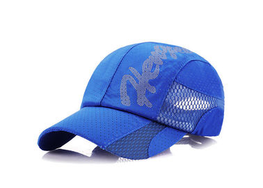 China Comfortable Blue / All Black Trucker Hat , Breathable Fitted Trucker Hats Not Faded distributor