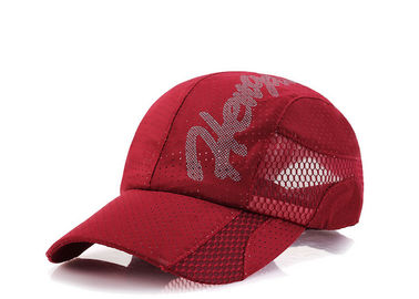 China Red Fashion Style Mesh Baseball Caps 100% Cotton Material Mesh Net Custom Logo Printed factory