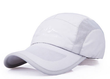 China White Outdoor Mesh Back Trucker Hats , Soft Touch Mesh Back Baseball Caps factory