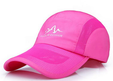China Outdoor Pink Mesh Baseball Hats Color Optional , Daily Decoration Plain Trucker Hats factory