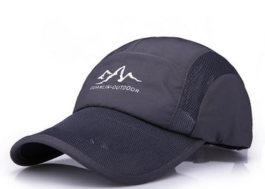 China Dark Grey Summer Mesh Baseball Caps Absorb Sweat Good Air Permeability Comfortable factory