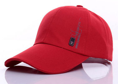 China Red Burgundy Girls Canvas Baseball Cap Custom Logo Printed For Daily Decoration distributor