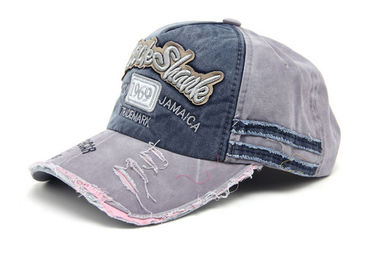 China Ourdoor Sports Dad Denim Baseball Cap With Adjustable Strap Comfortable Absorb Sweat factory