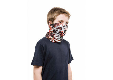 China Adult Breathable Polyester Tube Scarf Bandana , Sunscreen Neck Gaiter Climbing Skull Design factory