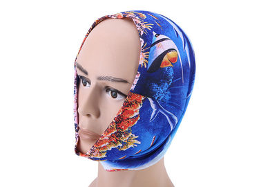 China Bicycle Soft Fadeless UV  Headwear Bandana With Burning Cloud Logo factory