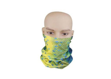 China High Elastic Fishing Tube Head Scarf , Sun Protection Bandana 100% Microfiber Polyester factory