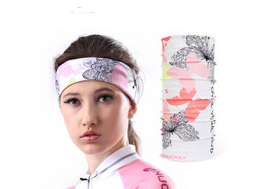 China Multifunctional Seamless Wear Scarf , White Multipurpose Bandana Low Fiber Properties distributor